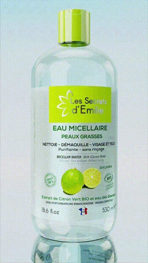 Eau micellaire peaux grasses Citron Vert